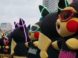Eevee Joins Over 1,500 Pikachus in Yokohama-Parade
