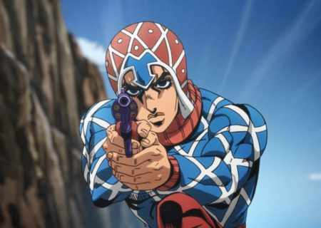 Guido Mista from anime JoJo's Bizarre Adventure Golden Wind