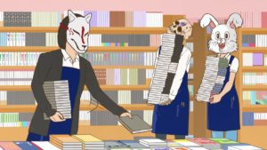 Skeleton Bookstore Employee Honda Trailer Official Anime Screenshot