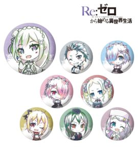 Can Badge | Anime Re:Zero Starting Life in Another World | Anime Merchandise Monday (10-16 September) | MANGA.TOKYO © 長月達平・株式会社KADOKAWA刊/Re:ゼロから始める異世界生活製作委員会