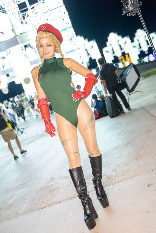 Chia Koma @chia_koma2 as Cammy from the Street Fighter series/ Photographer: @Osefly from Laguna Cosplay Festival