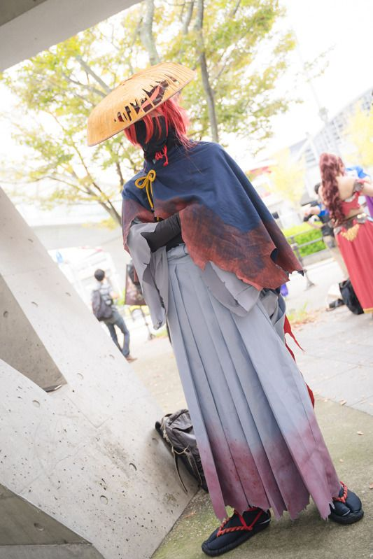@tectite as Okada Izo from Fate/Grand Order/ Photographer: @Osefly | [TGS2018] Male Cosplay Gallery from the First Day
