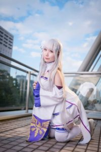 @Unimaru_03 as Emilia from Re:Zero − Starting Life in Another World/ Photographer: Hanmo   Cosplay Gallery from Cosplay-haku in TFT