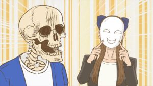 Skeleton Bookstore Employee Honda Episode 4 Official Anime Screenshot