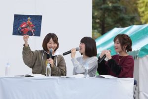 Narumi Kaho (Gorai), Hibiku Yamamura (Architect) and Rika Abe (Hresvelgr) from anime Frame Arms Girl