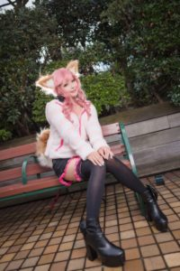 Tamamo-no-Mae (everyday clothes) from Fate/Grand Order | Cosplay Gallery from Ikebukuro Halloween Cosplay Fes 2018 | MANGA.TOKYO
