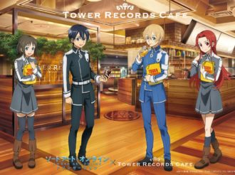 Sword Art Online Alicization x TOWER RECORDS CAFE Collaborate from January to March 2019