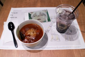 Made in Abyss Anime Themed Cafe at EJ Anime Theater Shinjuku Cafe