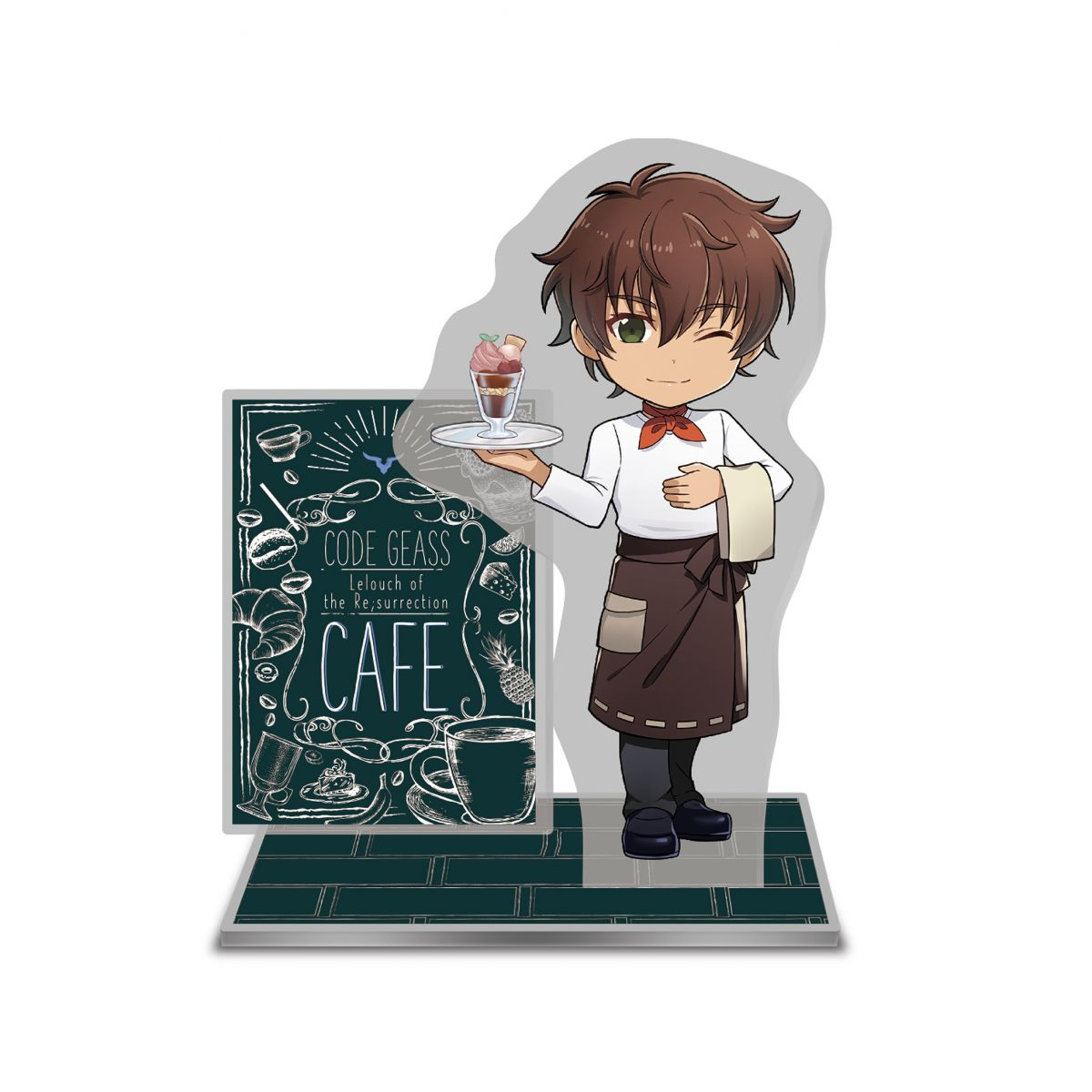 Merch at Code Geass Lelouch of the Resurrection Cafe ©SUNRISE/PROJECT L-GEASS Character Design ©2006-2018 CLAMP・ST