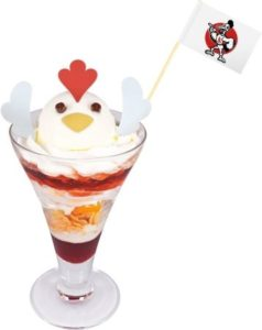Kokko-kun Parfait | Item from the Zombie Land Saga collaboration Anime Cafe Menu