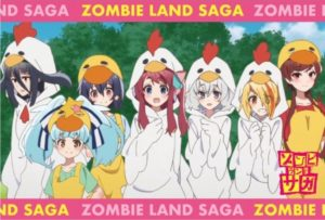 Postcard when rodering the Kokko-kun Parfait | Item from the Zombie Land Saga collaboration Anime Cafe Menu