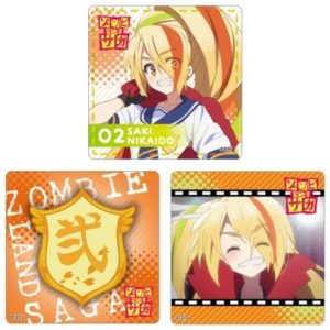 Three Saki Coasters | Item from the Zombie Land Saga collaboration Anime Cafe Menu