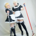 Yuzuriha and Ichika as Saber and Saber (Alter) maid version from Fate/hollow ataraxia | Cosplay Gallery from TonaCos
