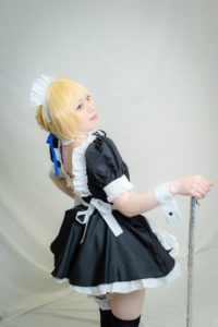 Yuzurihaand Ichika as Saber and Saber (Alter) maid version from Fate/hollow ataraxia | Cosplay Gallery from TonaCos