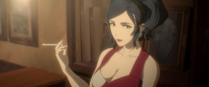 Madam from anime movie Human Lost