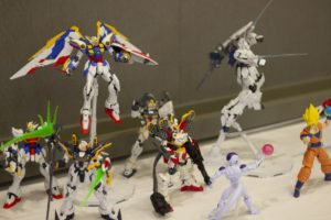 Gunpla and DBZ figures   Photo from Pittsburgh's Japanese pop culture convention Tekko