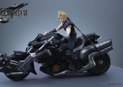 Final Fantasy VII Remake 1st Class Edition' Play Arts Kai Cloud Strife & Hardy Daytona Figure