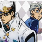 Jotaro Kujo and Koichi Hirose from anime JoJo's Bizarre Adventure: Golden Wind