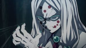 Spider Demon (Mother) character from anime Demon Slayer: Kimetsu no Yaiba
