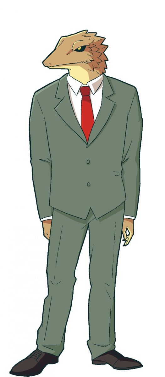 Lizard from anime African Office Worker (Africa no Salaryman)