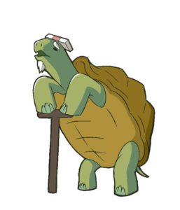 Company President Turtle from anime African Office Worker (Africa no Salaryman)