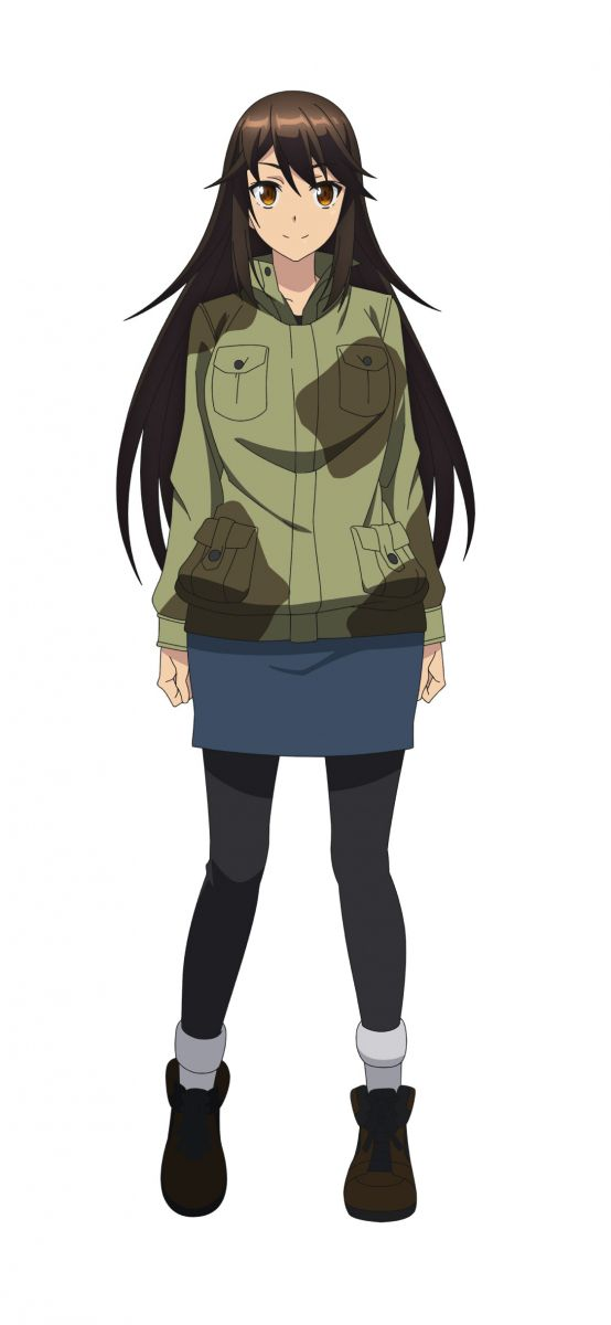 Mutsumi Oribe from anime movie The Island of Giant Insects (Kyochuu Rettou)
