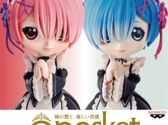 Rem and Ram Become Q Posket Figures